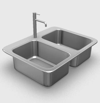 Archibit generation s r l 3d models kitchen washbasin - Lavabo cucina moderno ...
